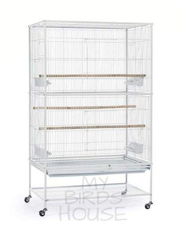 "Prevue Hendryx 30"" x 20"" White Flight Bird Cage"