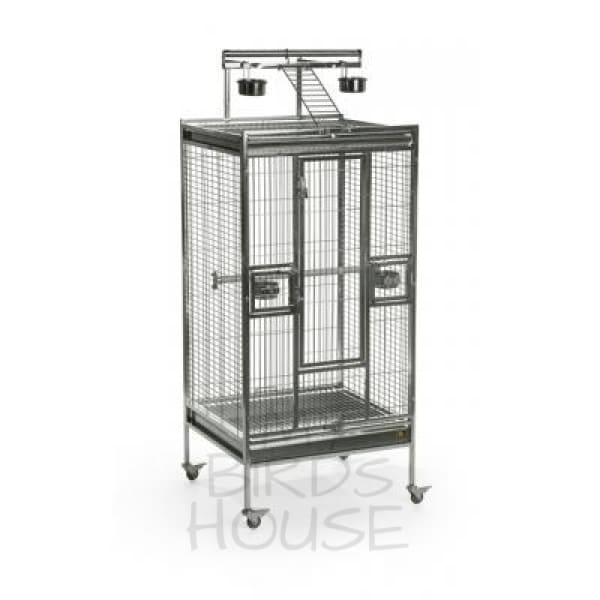 "Prevue Hendryx 24"" x 22"" Stainless Steel Playtop Bird Cage"