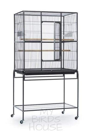 Prevue Hendryx Wrought Iron Flight Bird Cage with Stand