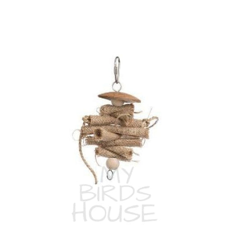 Rustic Rolls Bird Toy