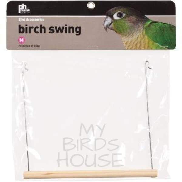 Small Birch Bird Cage Swing