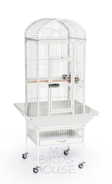 Small Dome Top Bird Cage - Chalk White