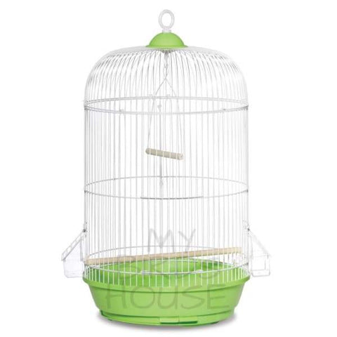 Small Round Bird Cage - Green