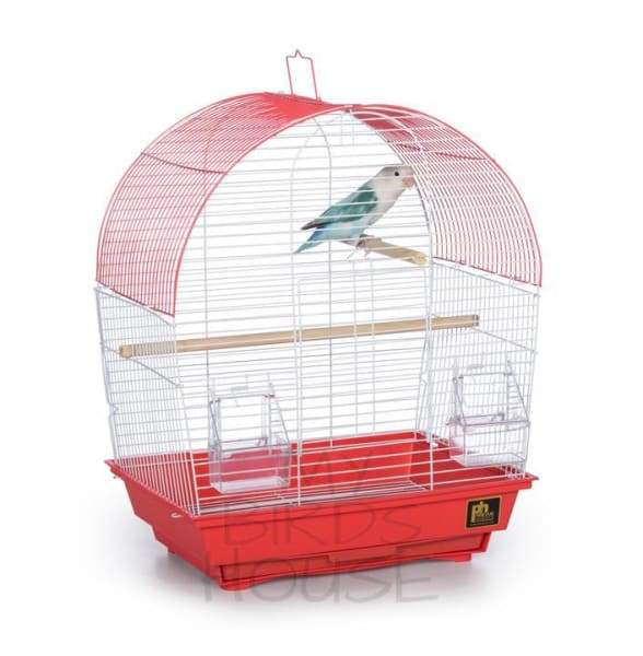 South Beach Dome Top Bird Cage - Red
