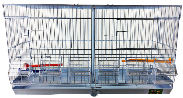 Stackable Divided Double Wide Breeder Cages