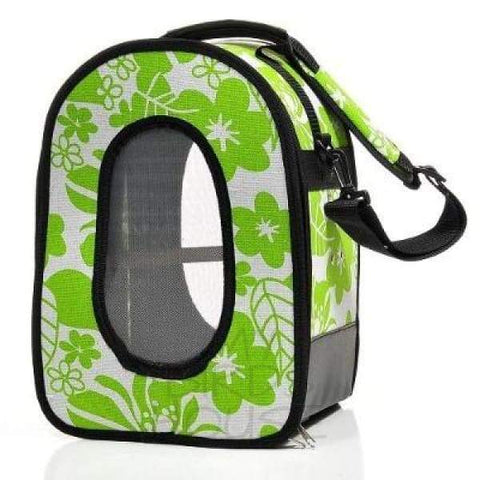The Voyager - Green - Soft Sided Travel Bird Carrier Bag