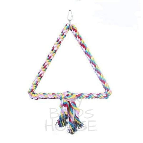 Triangle Cotton Rope Swing Bird Toy