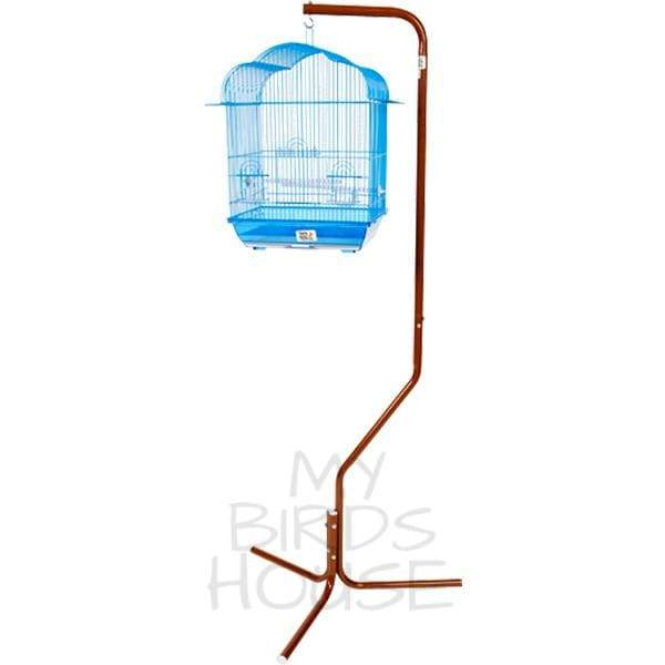 Tripod Stand for Small Bird Cages - Black