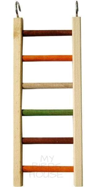 "Wooden Hanging Ladder - 14"" Bird Cage"
