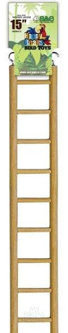 "Wooden Hanging Ladder - 15"" Bird Cage"