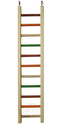 "Wooden Hanging Ladder - 25"" Bird Cage"
