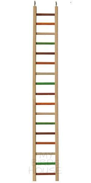 "Wooden Hanging Ladder - 37"" Bird Cage"