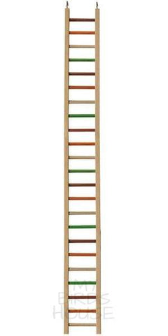 "Wooden Hanging Ladder - 49"" Bird Cage"