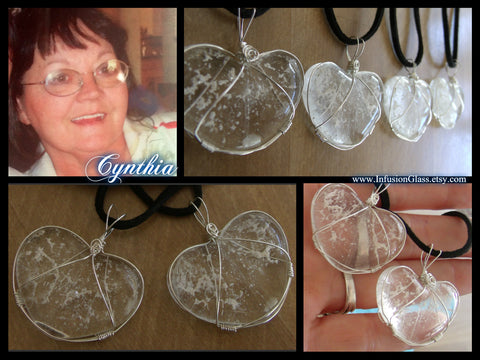 infusion glass heart cremation jewelry