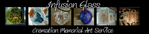 infusion glass cremation jewelry and art