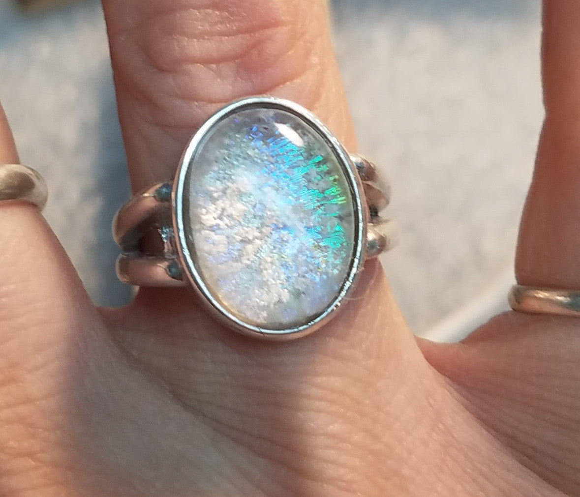 Cremation Jewelry Ring Sterling Silver Ashes in Glass Size ...