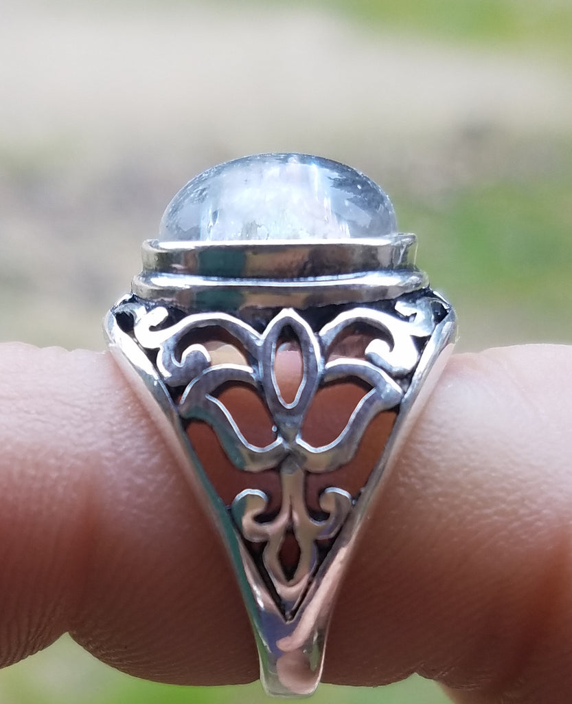 NEW Cremation Jewelry Ring Filigree Lotus Sterling Silver ...