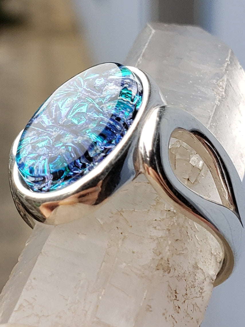 loop urn ring sterling silver, cremation jewelry, memorial jewelry, pet memorial jewelry, cremation ring, memorial ring, handmade, urn ring, ashes in glass, ashes InFused Glass, ring for Ashes, sympathy gift USA Handmade by Infusion Glass Artist Joele Williams Human and Pet Cremation Ash Remembrance Urns AshesInfusedGlass.com