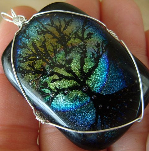 full moon tree of life pendant wire wrapped Unique Handmade Cremation Jewelry Pendants, Rings and Bracelets. Ashes in Glass Handmade . Sympathy Gifts, Mourning Jewelry. Cremation Ashes Infused in Glass. Quality Sterling Silver and 14k Gold USA Handmade by Infusion Glass  Human & Pet Cremation Ash Remembrance Urns AshesInfusedGlass.com