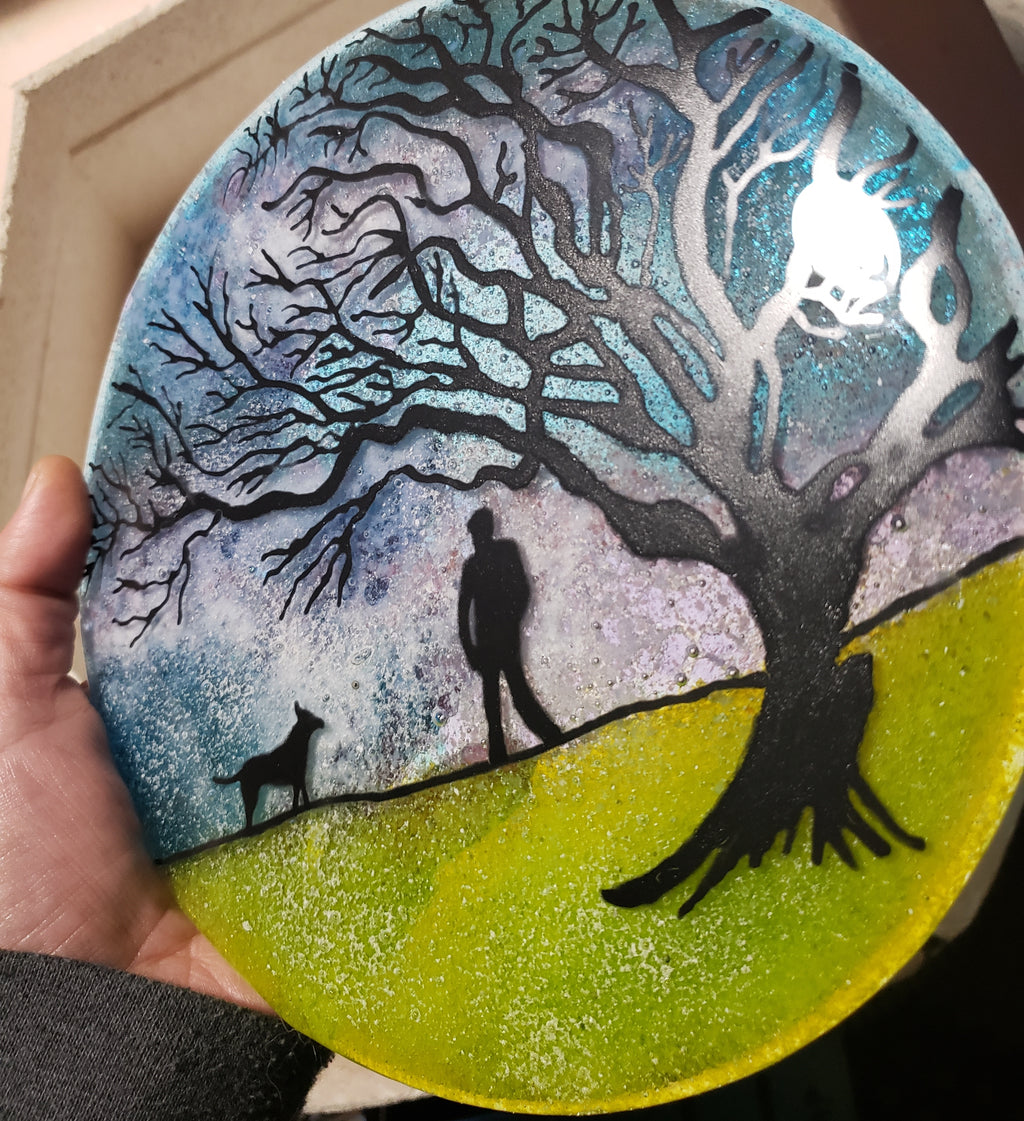 Tree of Life  Ashes InFused Glass Cremation Memorial Art