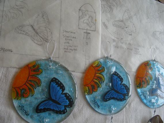 handmade suncatchers with cremation ashes custom design ashes infused glass