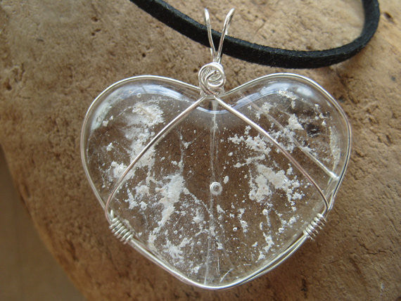 Heart Cremation Jewelry Pendant Ashes InFused Glass