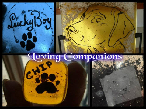 Cremation Glass Art Custom Pet Cremation Art Service FREE Quote Ashes InFused in Glass