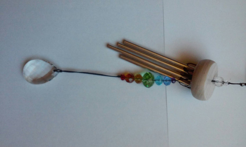 Ashes InFused Glass Cremation Art Wind Chime Hummingbird Stargazer Handmade