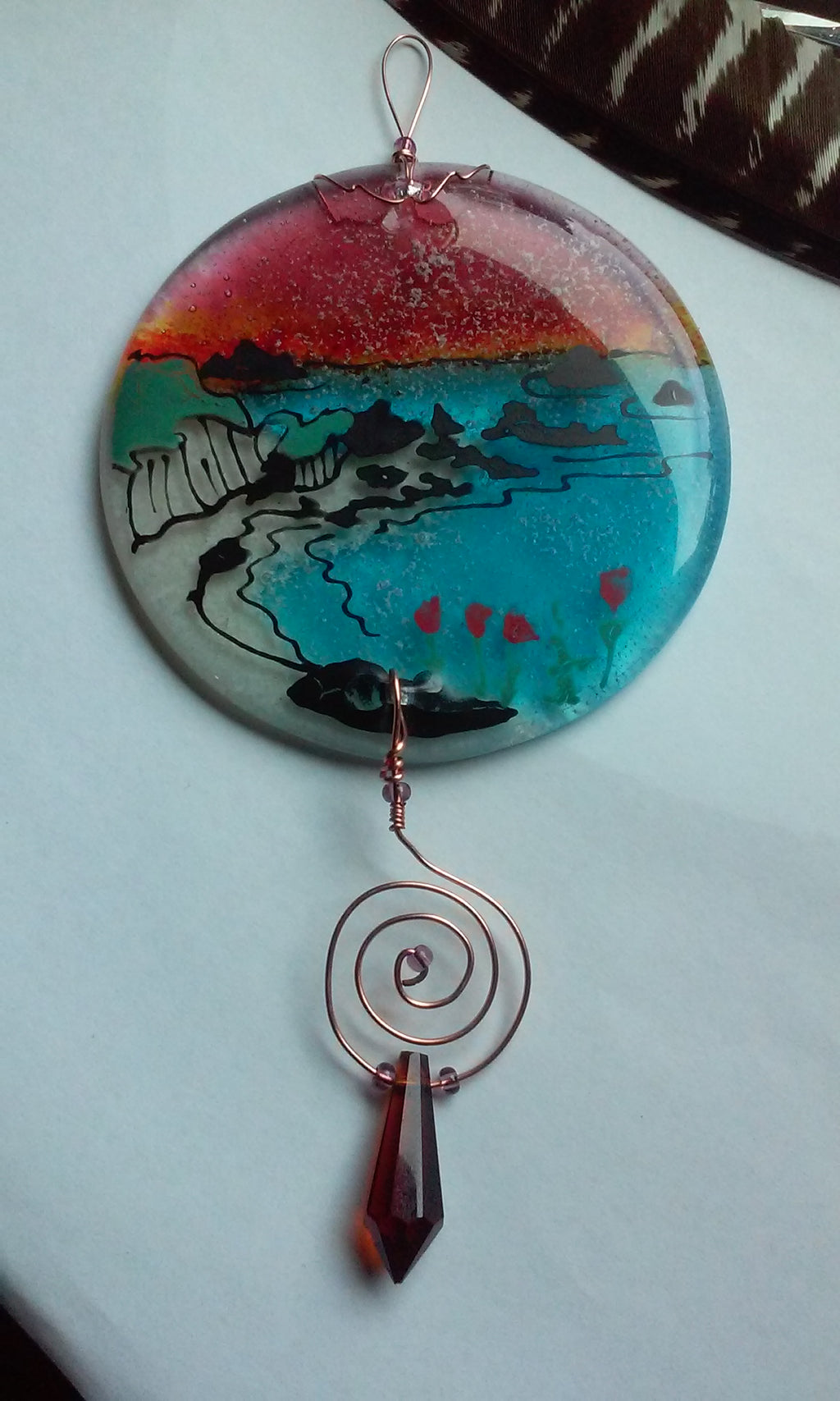 Glass Cremation Art Oregon Coast Sun Catcher