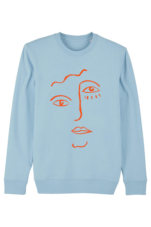 Face Sweater (Blue Sky)
