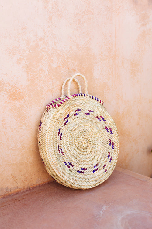 Morocco | Rotan bag purple large