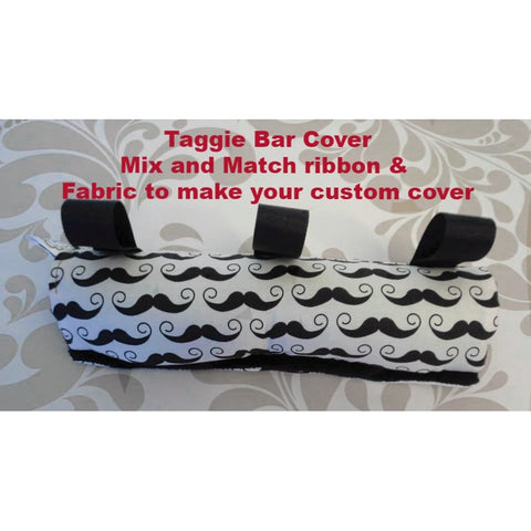 Taggie Clubfoot Bar Cover- Choose your own Tags and Fabric Prints