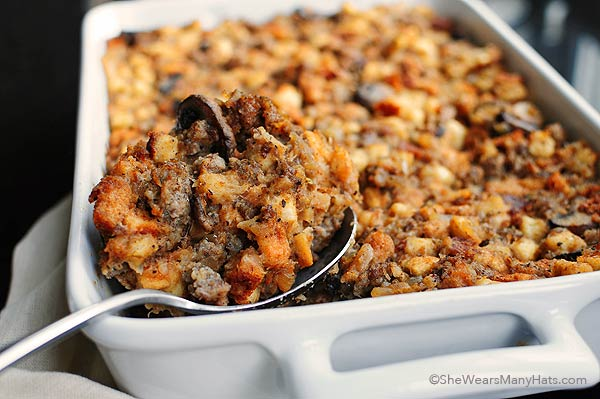 November Recipe of the Month - Michell's Sourdough Stuffing with Mushrooms and Sausage
