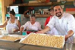 Image of Chef Daniele making gnocchi