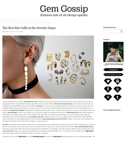 Best Gold Ear Cuffs on Gem Gossip Antoanetta Jewelry