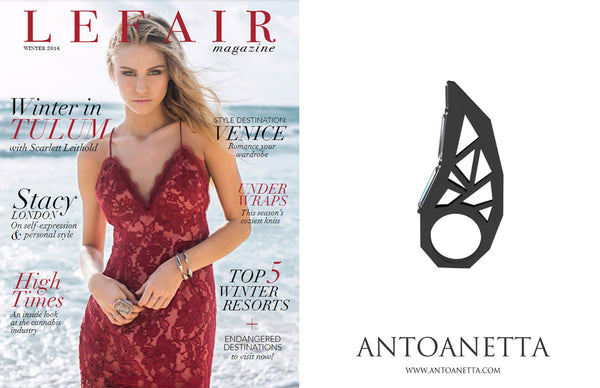 Lefair magazine antoanetta ring black ring press
