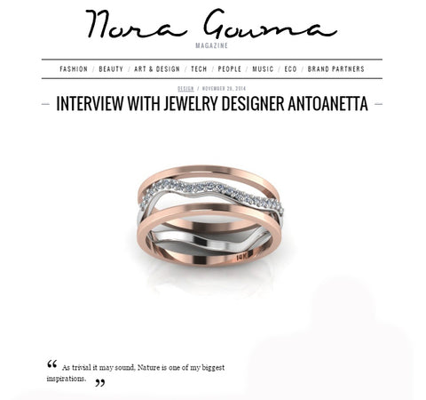 Interview on Nora Gouma Magazine Antoanetta Jewelry
