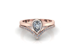 Minimalist Wedding Set 14K ROSE GOLD