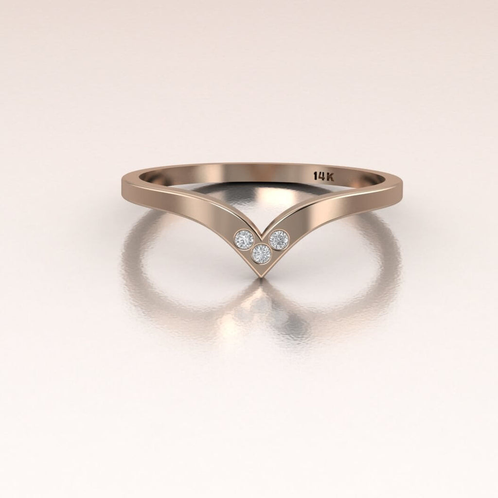 14K Rose Gold Past Present Future Ring