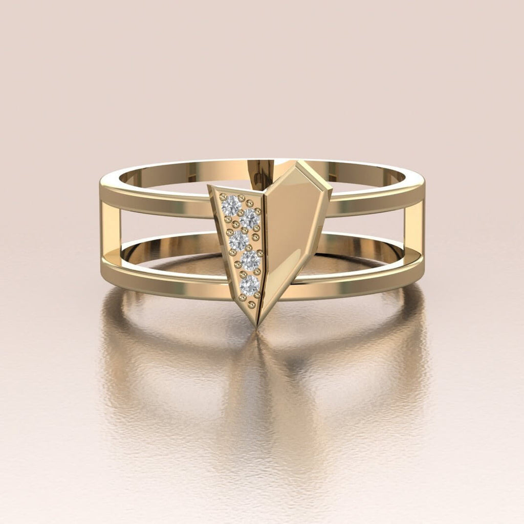 A-Typical Love Ring 14K Gold