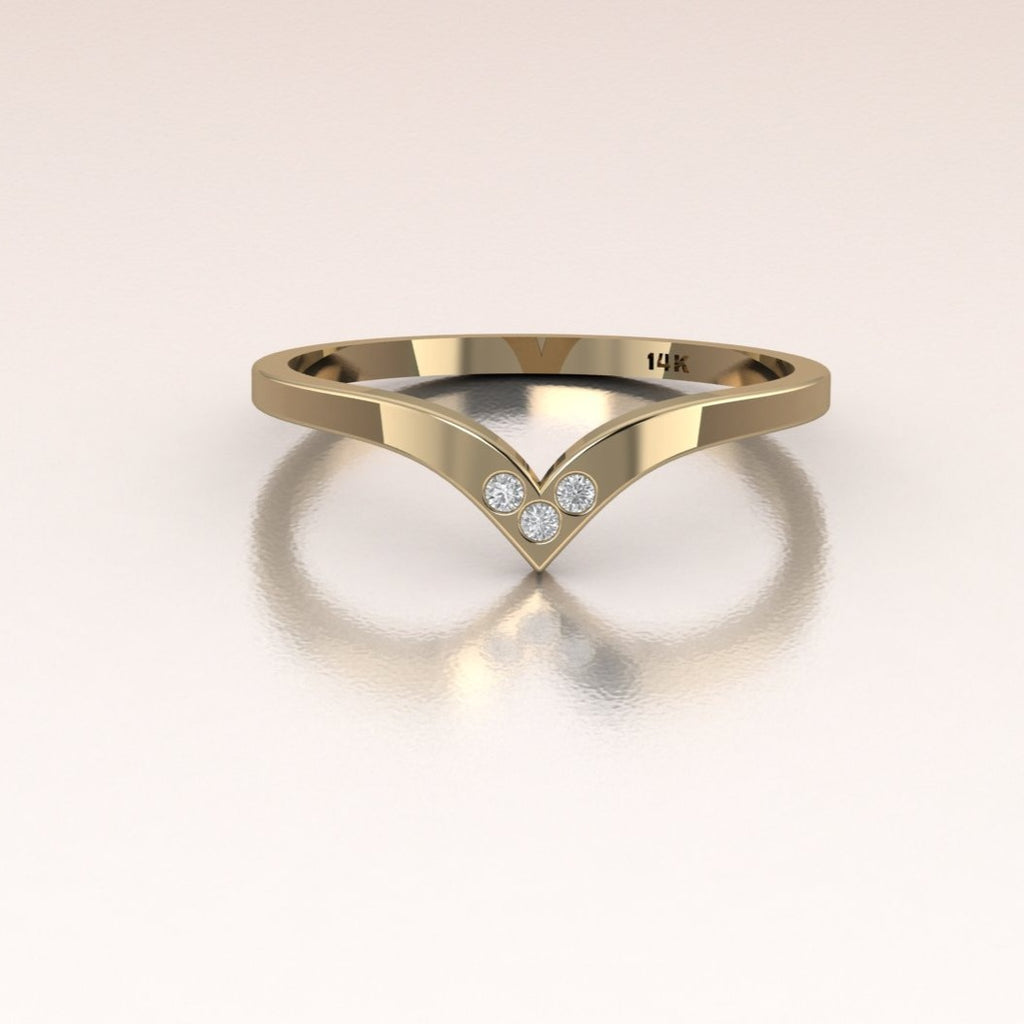 14K Yellow Gold Past Present Future Ring