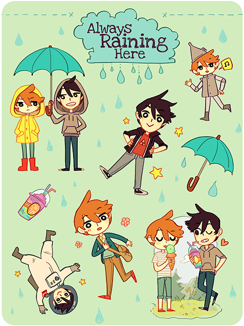Always Raining Here Stickers