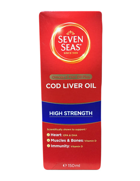<b>SEVEN SEAS</b><br>High Strength Cod Liver Oil