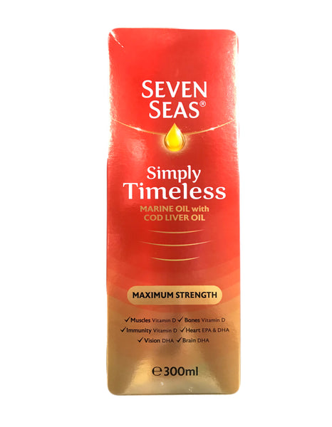 <b>SEVEN SEAS</b><br>Maximum Strength Marine Oil With Cod Liver Oil