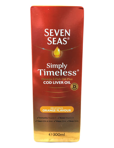 <b>SEVEN SEAS</b><br>Delicious Orange Flavour Cod Liver Oil