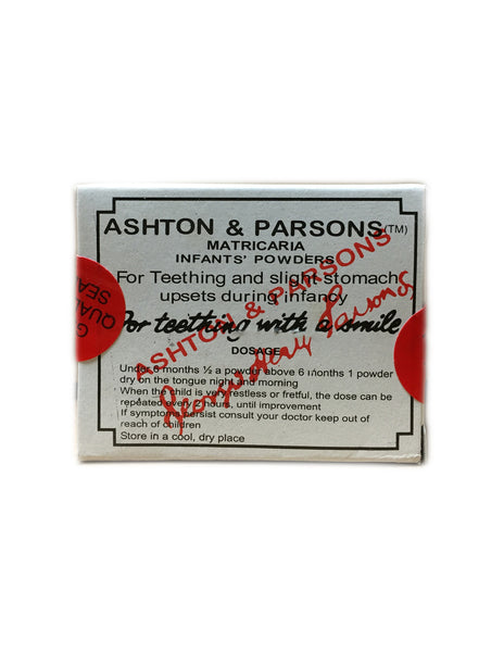 <b>ASHTON & PARSONS</b><br>Infants' Teething Powder