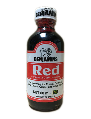 <b>BENJAMINS</b><br>Artificial Red Food Colouring