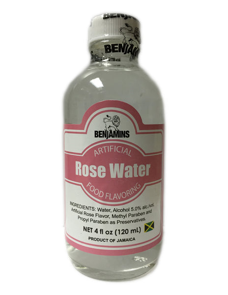 <b>BENJAMINS</b><br>Artificial Rose Water Food Flavouring