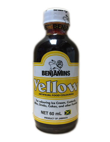 <b>BENJAMINS</b><br>Artificial Yellow Food Colouring