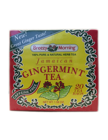 <b>BREEZY MORNING</b><br>Jamaican Gingermint Tea - 20 Bags